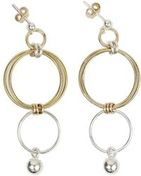 Alison Fern Jewellery - 14kt Yellow Gold Filled Sterling Silver Finn Drop Earrings - Lyst