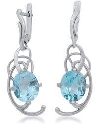 Drukker Designs - Sterling Silver Blue Topaz Earrings - Lyst