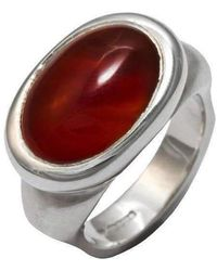Luke Goldsmith - Silver Eyecandy Carnelian Ring - Lyst