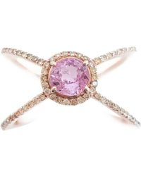 Ri Noor - Pink Sapphire And Fancy Yellow Diamond Ring - Lyst