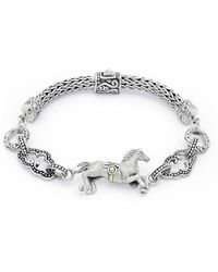 Deni Jewelry - Horse Bracelet With Megamendung Cloud Motif - Lyst
