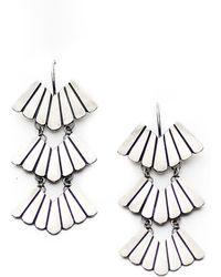Meltdown Studio Jewelry - Triple Feather Earrings - Lyst