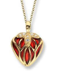 Nicole Barr - 18kt Gold Heart Necklace - Lyst