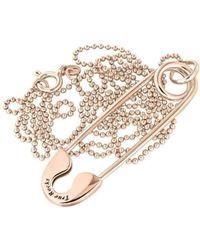 True Rocks - Medium Rose Gold Plated Silver Safety Pin Pendant - Lyst