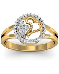 Diamoire Jewels - 18kt Yellow Gold Pave 0.18ct Diamond Infinity Ring Ii - Lyst