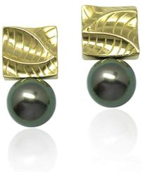 K.Mita | Small Square Pearl Earrings | Lyst
