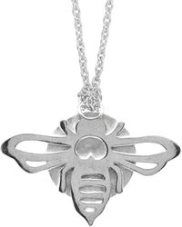 Oria Jewellery - Sterling Silver Bee Necklace - Lyst