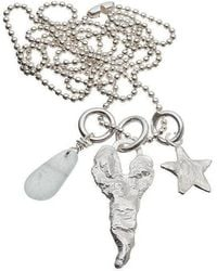 Kate Chell Jewellery - Heart And Star Long Necklace - Lyst