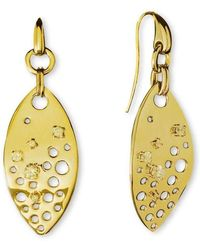 Stefano Salvetti - Yellow Gold Plated Ineludibile Bronze Earrings - Lyst