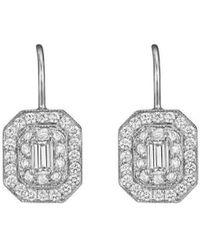 Penny Preville Diamond Accent Arabesque Earrings on Bezel French Wire aKMeFTbfz