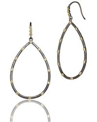 Freida Rothman - Thin Bezel Station Teardrop Earrings - Lyst