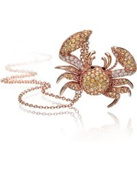 Pinomanna - Natural Chic Crab Necklace - Lyst