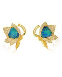 Socheec - Opal Diamond Butterfly Studs - Lyst