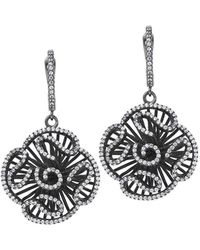 Fei Liu - Cascade Stud Drop Earrings In Black Rhodium - Lyst