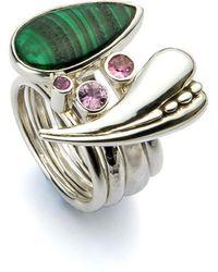 John S Roberts Artist-Jeweller - Glade Large Seed Heart Stacker Ring - Lyst