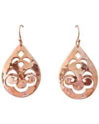 Murkani Jewellery - Tear Drop Small Rose Gold Earrings - Lyst