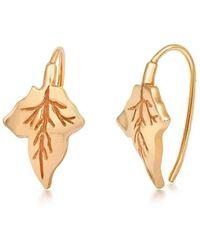 Liz Earle Fair and Fine - Ivy Earrings Gold - Lyst