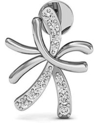 Diamoire Jewels 14kt White Gold and Diamond Floral Pave Earrings 5UIwAJ