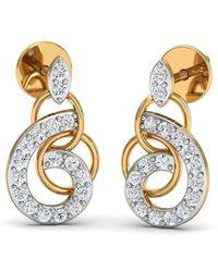 Diamoire Jewels - Nature Inspired 14kt Yellow Gold And Diamond Luxe Pave Earrings - Lyst