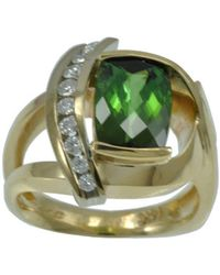 Alex Gulko Custom Jewelry - Green Tourmaline Yellow Gold Ring - Lyst