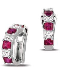Gemlok for Gemveto - Radiant Platinum Ruby Earrings - Lyst