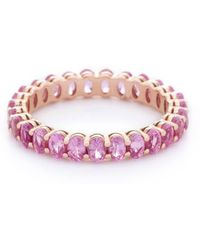VOA Fine Jewellery - Signature Oval Pink Eternity Ring - Lyst