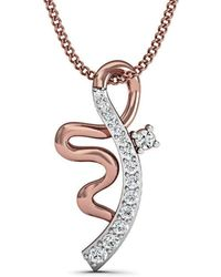 Diamoire Jewels Electrifying Diamond Pendant in 10Kt Rose Gold 2kGkClJ