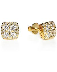 Lustre of London - Yellow Square Cluster Studs - Lyst