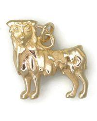 Donna Pizarro Designs 14kt Yellow Gold German Shepherd Charm 6MwohCVU