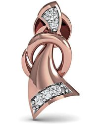 Diamoire Jewels - Hand Carved 14kt Rose Gold And 1mm Diamond Pave Earrings - Lyst