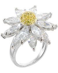 CZ by Kenneth Jay Lane - Floral Cz Marquise Ring - Lyst