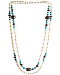 M's Gems by Mamta Valrani | Magnifique Pearl Necklace With Rubies, Turquoise And Beads | Lyst