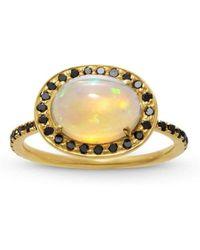 Liz Phillips - Delilah Opal And Black Diamond Ring - Lyst
