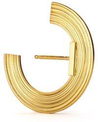 aka jewellery - Gold Plated Silver Orbit Small Radius Lobe Earrings - Lyst