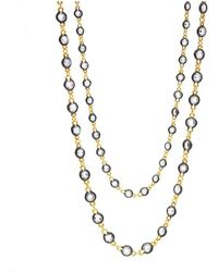 Freida Rothman - Two Tone Raindrop Wrap Necklace - Lyst