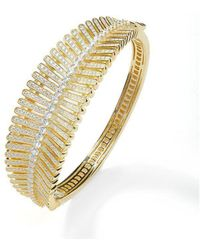 Lustre of London - Yellow Feather Bangle - Lyst