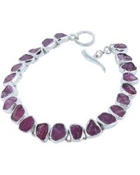 Reeves and Reeves | Rough Stone Ruby Bracelet | Lyst