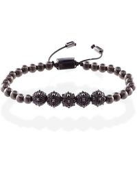 MARCOS DE ANDRADE - Morning Star Spike Bracelet In Titanium Black - Lyst