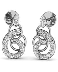 Diamoire Jewels - Diamonds And 18kt White Gold Nature Inspired Luxe Pave Earrings - Lyst