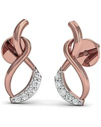 Diamoire Jewels Classic Pave Stud Earrings in 18kt Rose Gold 4KvsL