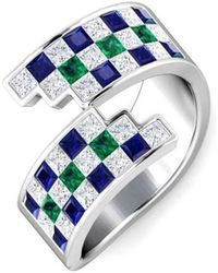 Gunjan Bhandari - Multi Chequered Ring - Lyst