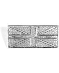 Agora Jewellery - Silver Filigree Union Jack Flag Brooch - Lyst