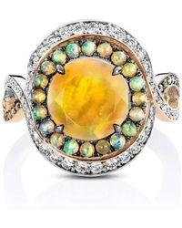 Joke Quick - Twilight Entourage Ring With Ethiopian Opal And Diamonds - Lyst