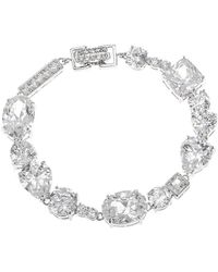 CZ by Kenneth Jay Lane | Multi-shape Cz Link Bracelet | Lyst
