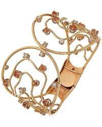 Botta Gioielli Orange Sapphires And Diamonds Waves Bracelet