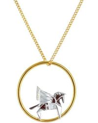 Origami Jewellery Gold & Sterling Silver Pegaze Circle Origami Necklace gxYQFTGs0