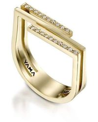 YAMA JEWELRY - My Other Half 14kt Yellow Gold Diamond Ring - Lyst