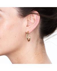 Deborah Blyth Jewellery - Gold Wave Hoop Earrings - Lyst