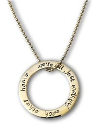 Hilary&June - Circle Of Love 9kt Gold Necklace - Lyst