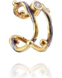 Bergsoe - Seafire Ear Cuff With Champagne Diamond - Lyst